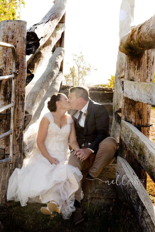 couple in cattle ramp