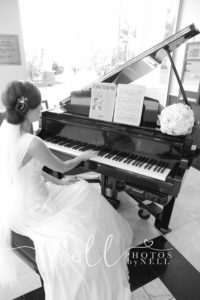 bride at piano